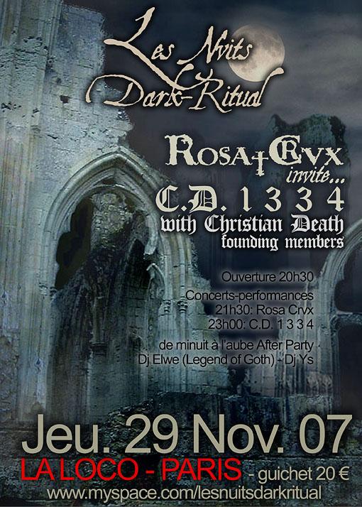 29/11/07 NUIT DARK RITUAL: Christian Death 1334 + Rosa Crvx Darkritual%201